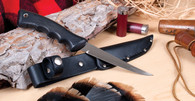 Sportsman Knife w/ Leather Scabbard