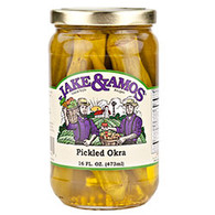 Jake & Amos Pickled Okra - Pint | Branson Missouri Food Store