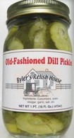 Old Fashioned Dill Pickles by Byler's Relish House for Amish Country Store