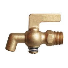 Brass Air Cock - Lever Handle With Bibb Hexagon Shoulder