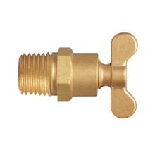"EFI DC-100 1/4"" NPT Brass Drain Cock Forged Handle Type"