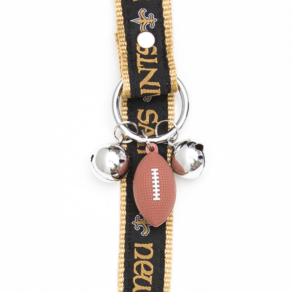 New Orleans Saints Pet Potty Training Bells Hot Dog Collars