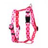 "Valentine Polka Dot Roman Style ""H"" Dog Harness"