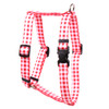"""Gingham Red Roman Style """"H"""" Dog Harness"""