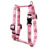 "Daisy Chain Pink Roman Style ""H"" Dog Harness"