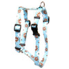 "Daisy Chain Blue Roman Style ""H"" Dog Harness"