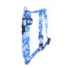 "Aloha Blue Roman Style ""H"" Dog Harness"