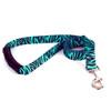 Zebra Teal EZ-Grip Dog Leash