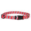 Team Spirit Red, Black and White Dog Collar