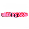 Valentine Polka Dot Martingale Dog Collar