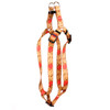 Leather Rose Red Step-In Fabric Dog Harness