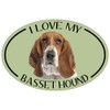 I Love My Basset Colorful Oval Magnet