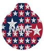 Colonial Stars HD Pet ID Tag