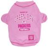 Green Bay Packers NFL Football PINK Pet T-Shirt