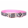 Zebra Black Uptown Dog Collar
