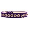 Purple Starlight Filigree Crystal Dog Collar