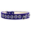 blue Starlight Filigree Crystal Dog Collar