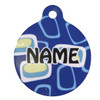 Geometric Blue HD Pet ID Tag