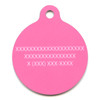 Pink Argyle HD Pet ID Tag