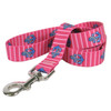 Anchors on Pink Stripes Dog Leash