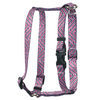 Pink Tweed Roman Style H Dog Harness