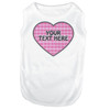Personalized Preppy Girl Plaid Heart Pet T-Shirt