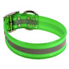 Green REFLECTIVE 1.5In WIDE SunGlo All Weather Dog Collar