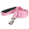 Southern Dawg Gingham Pink Premium Dog Leash