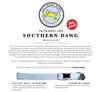 Southern Dawg Gingham Pink Premium Dog Collar