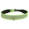 Neon 3-Row Crystal Dog Collar