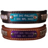 Bullet Stud Name Plate Leather Dog Collar