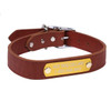 Leather Personalized Engraved Name Plate Dog Collar