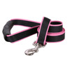 Sterling Stripes Black and Light Pink Dog Leash