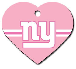 N.Y. Giants PINK Pet ID Tag - With Engraving