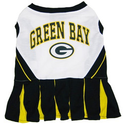 Green Bay Packers NFL Football Pet Cheerleader Outfit