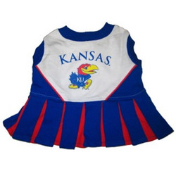 Kansas Jayhawks Dog Cheerleader Outfit