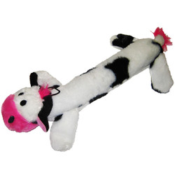 Plush Cow Squeaker Dog Toy