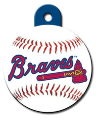 Atlanta Braves ROUND Engraved Dog ID Tag