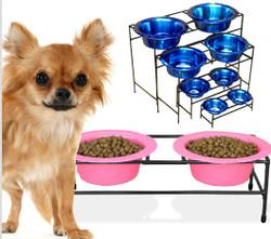 Modern Double Diner Stand Raised Dog Feeder