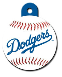 LA Dodgers ROUND Engraved Dog ID Tag