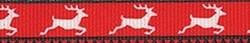 Reindeer Print Coupler Dog Leash