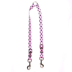 Pink and Black Polka Dot Coupler Dog Leash