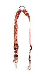 Giraffe Pink Coupler Dog Leash