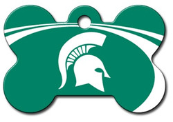 Michigan St Spartans Engraved Pet ID Tag