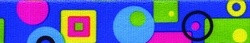 Blue Geometric Coupler Dog Leash