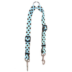 Blue and Brown Polka Dot Coupler Dog Leash