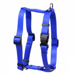 "Solid Royal Blue Roman Style ""H"" Dog Harness"