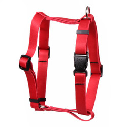 "Solid Red Roman Style ""H"" Dog Harness"