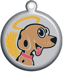 Lil' Angel Dog Pet ID Tag - With Engraving