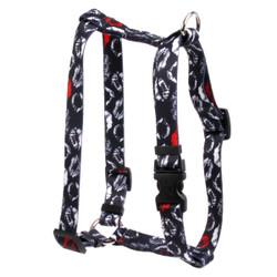 "Kisses Black Roman Style ""H"" Dog Harness"